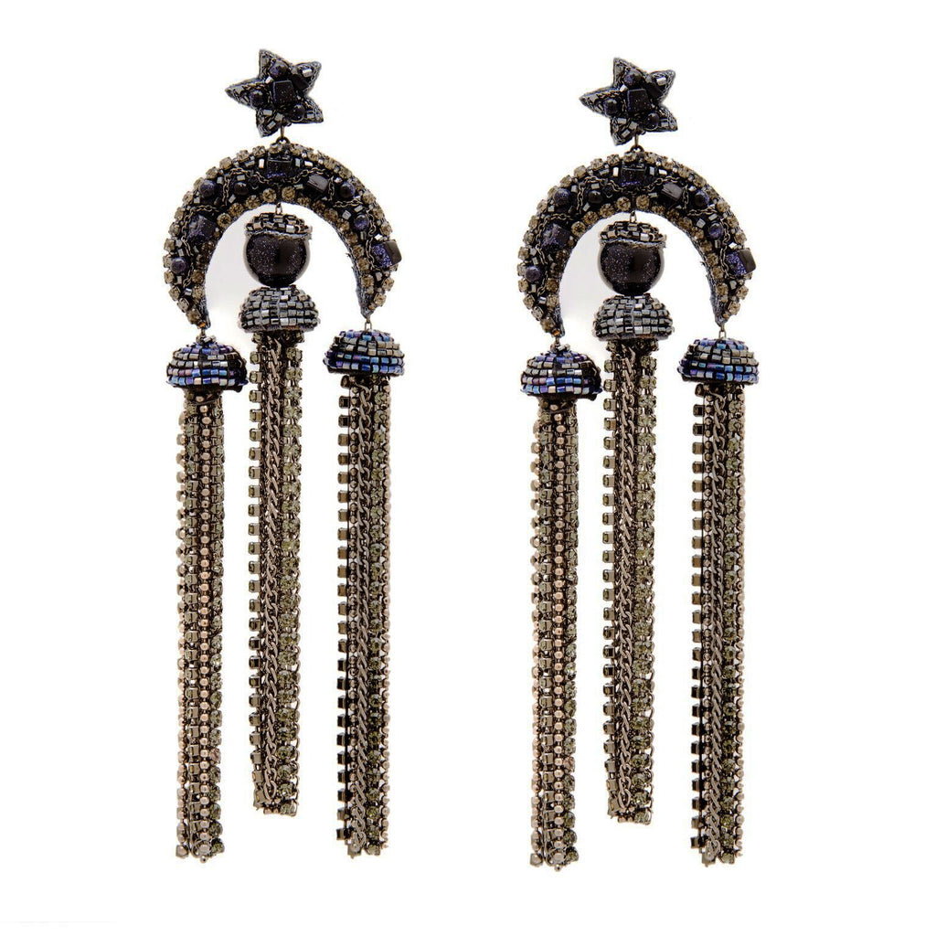 Teena Beaded Chandelier Earrings