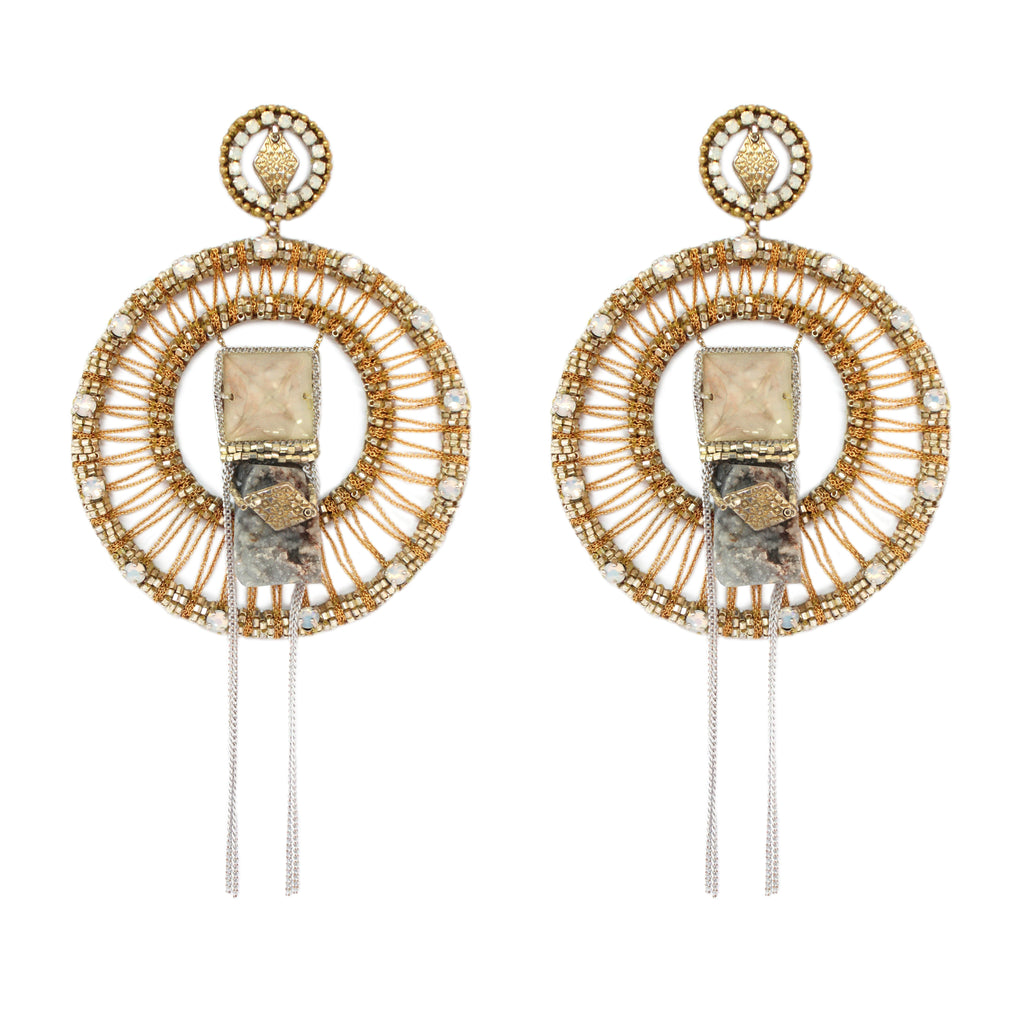 Tosha Beaded Chandelier Earrings