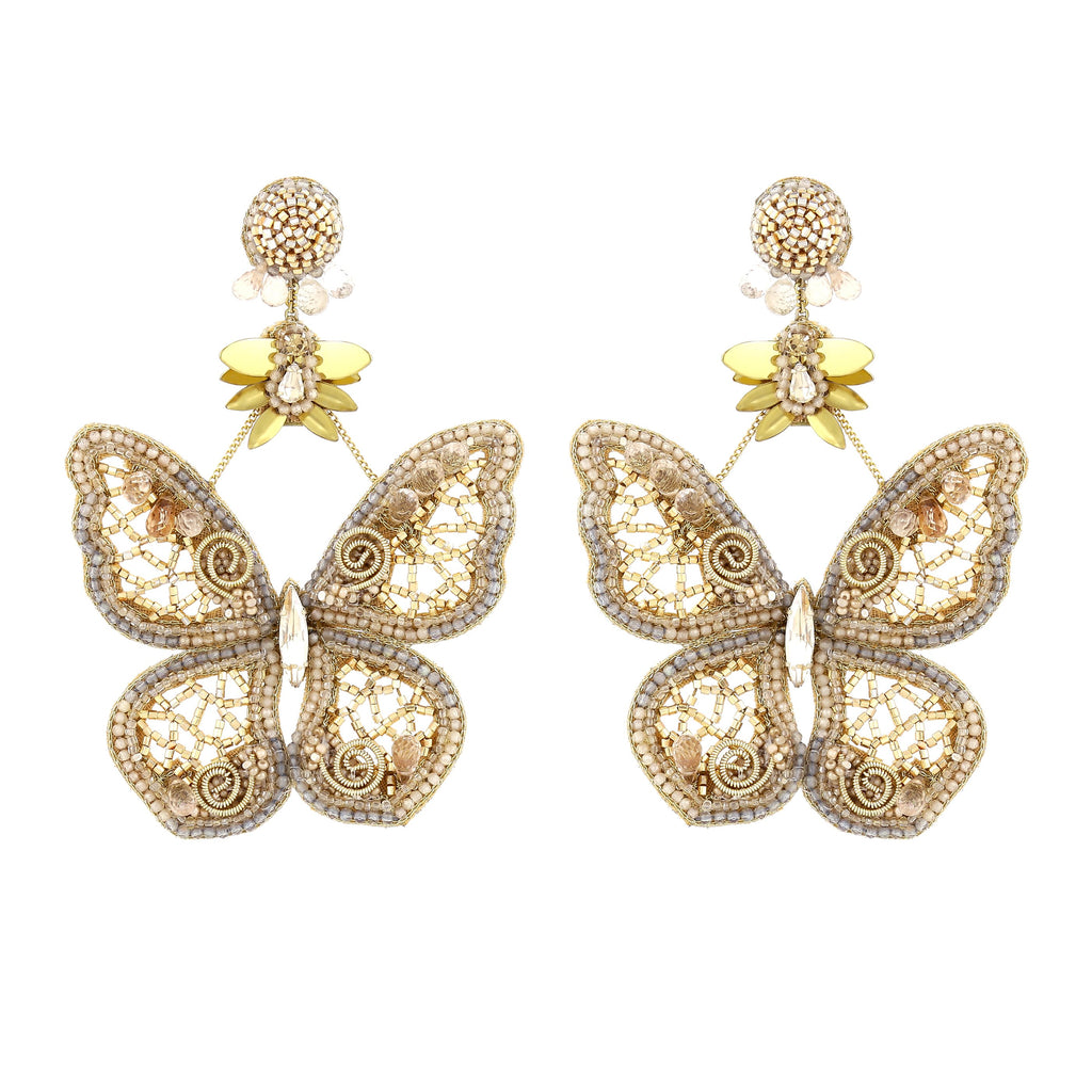 Hayley Gold Butterfly Earrings