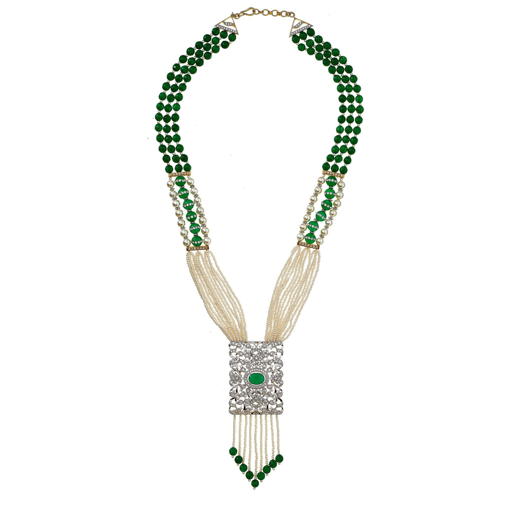 Vanessa Jade Pendant Necklace