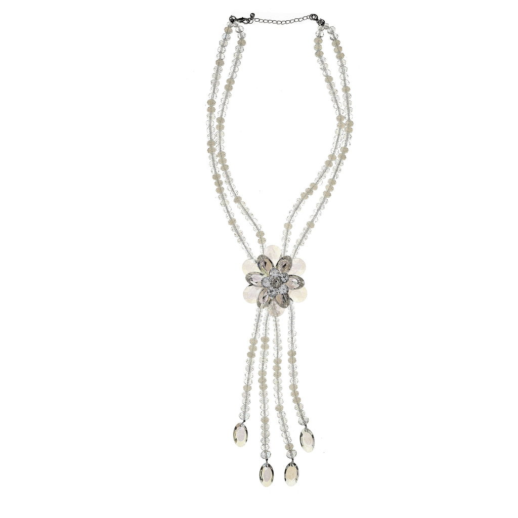 Hannah Crystal Lariet Necklace