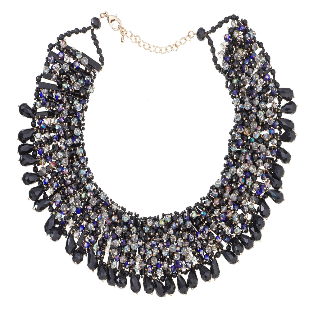 Crystal Beaded Bib Necklace
