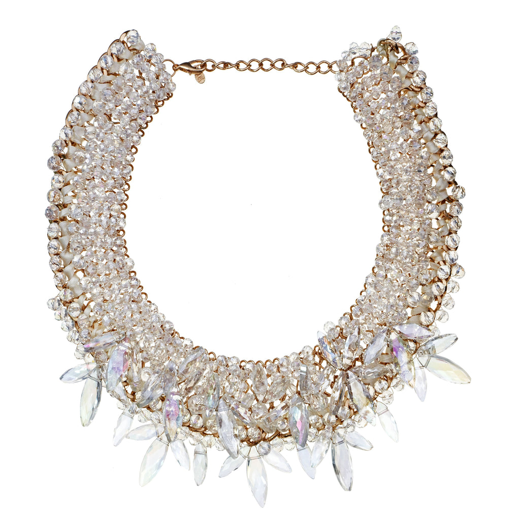 Hedy Beaded Bib Necklace