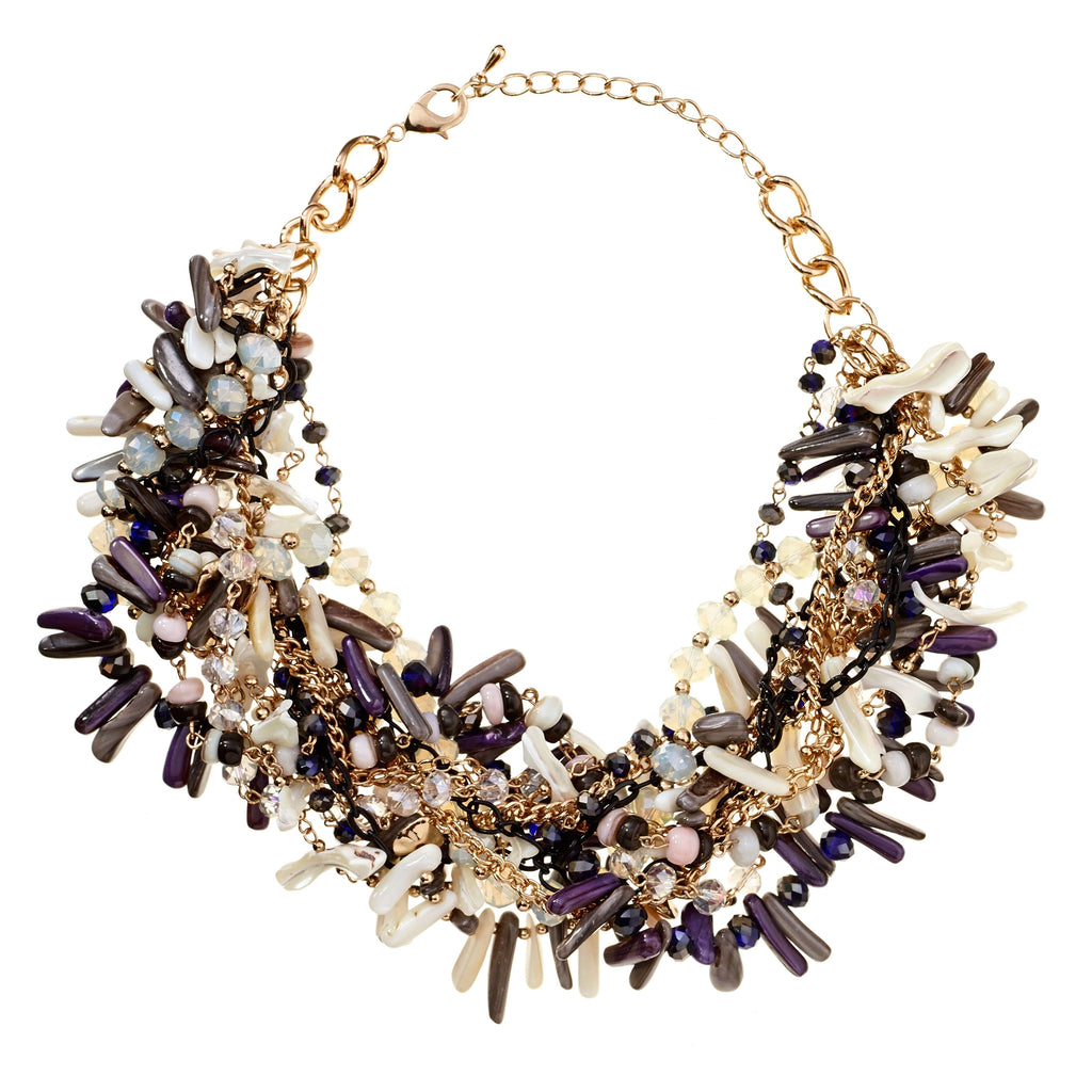 Iris Twisted Crystal Statement Necklace