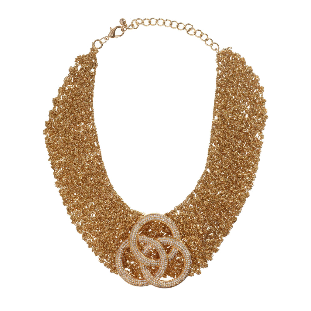 Calista Gold Collar Necklace