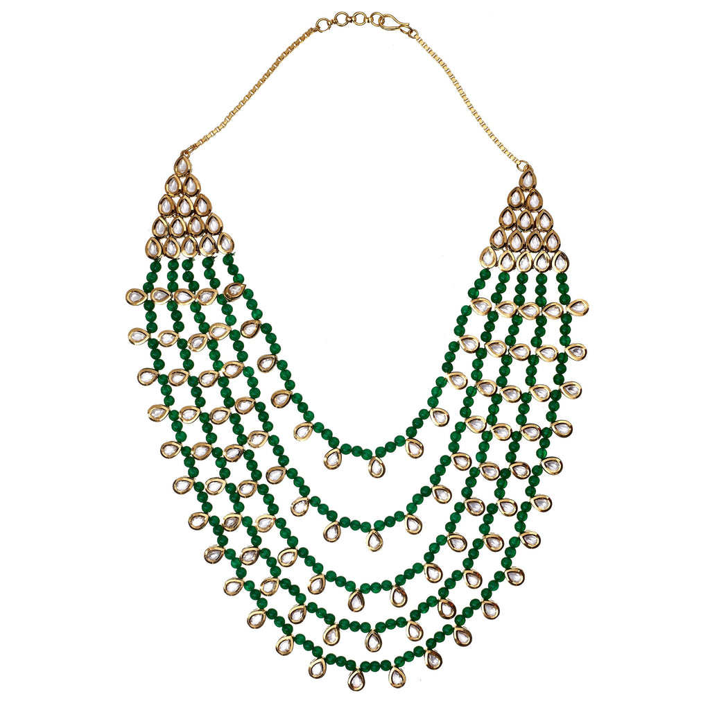 Noureen Jade Layered Necklace