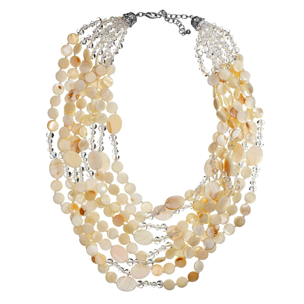 Mitzi Mother-of-Pearl Long Necklace