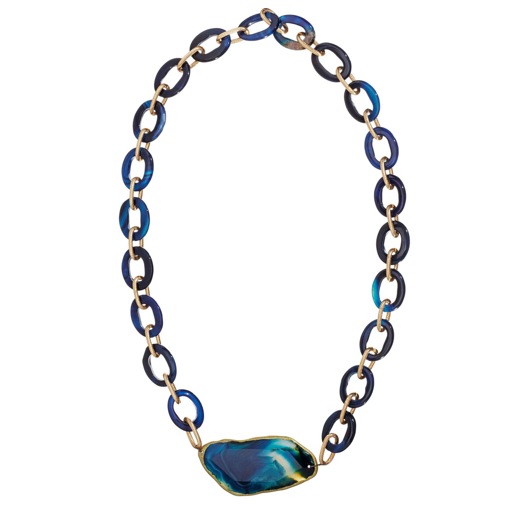 Dominique Agate Linked Necklace