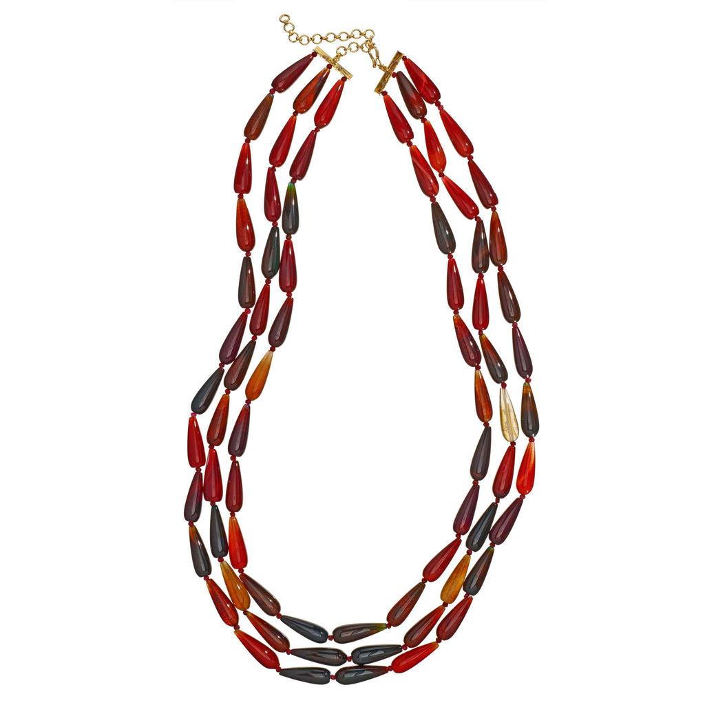 Dinah Long Beaded Necklace