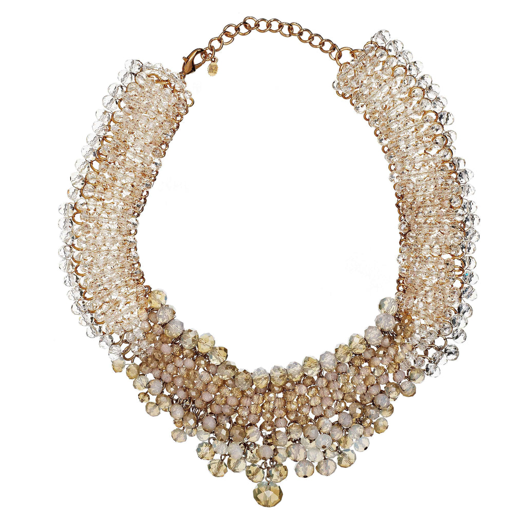 Morena Beaded Bib Necklace