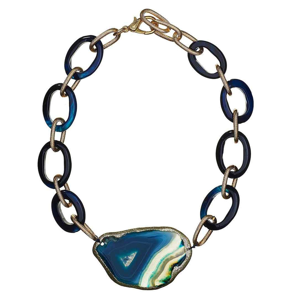 Francia Agate Link Necklace