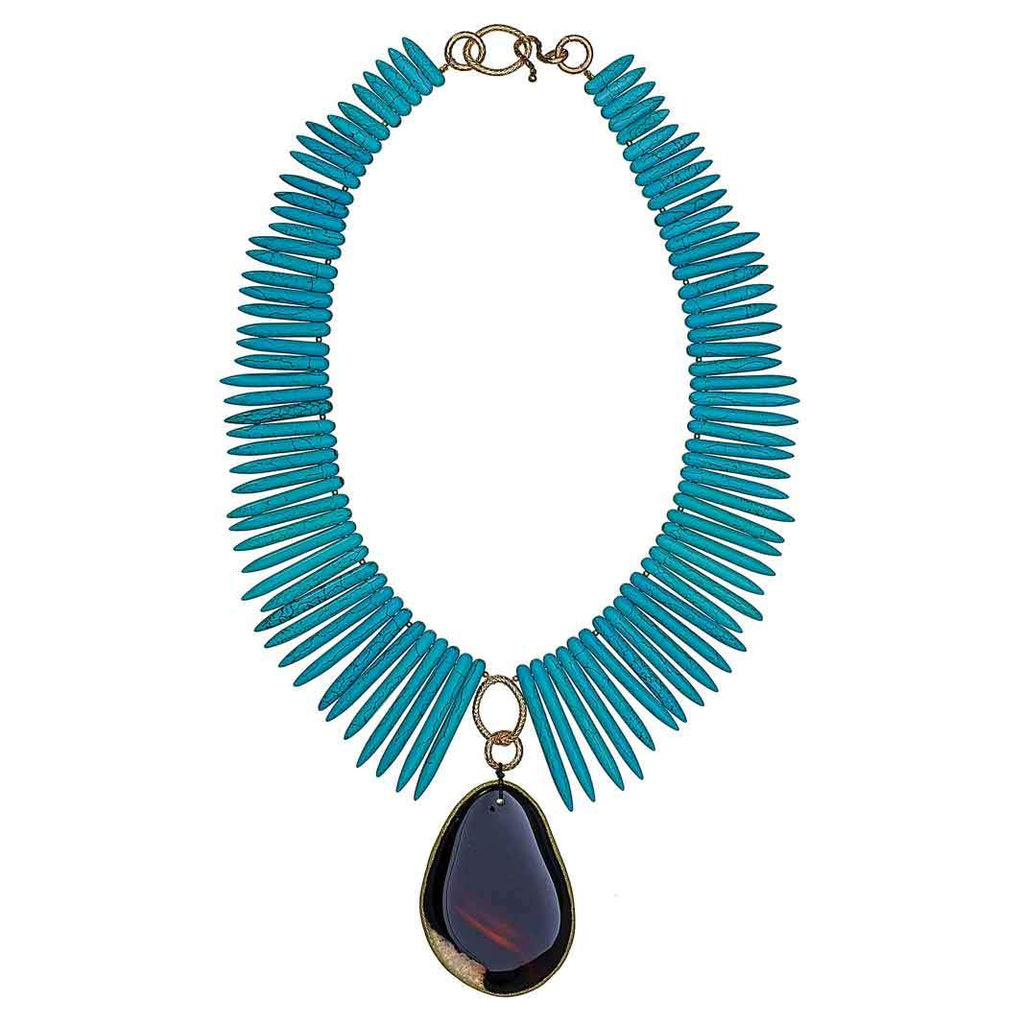 Naya Turquoise Spike Necklace
