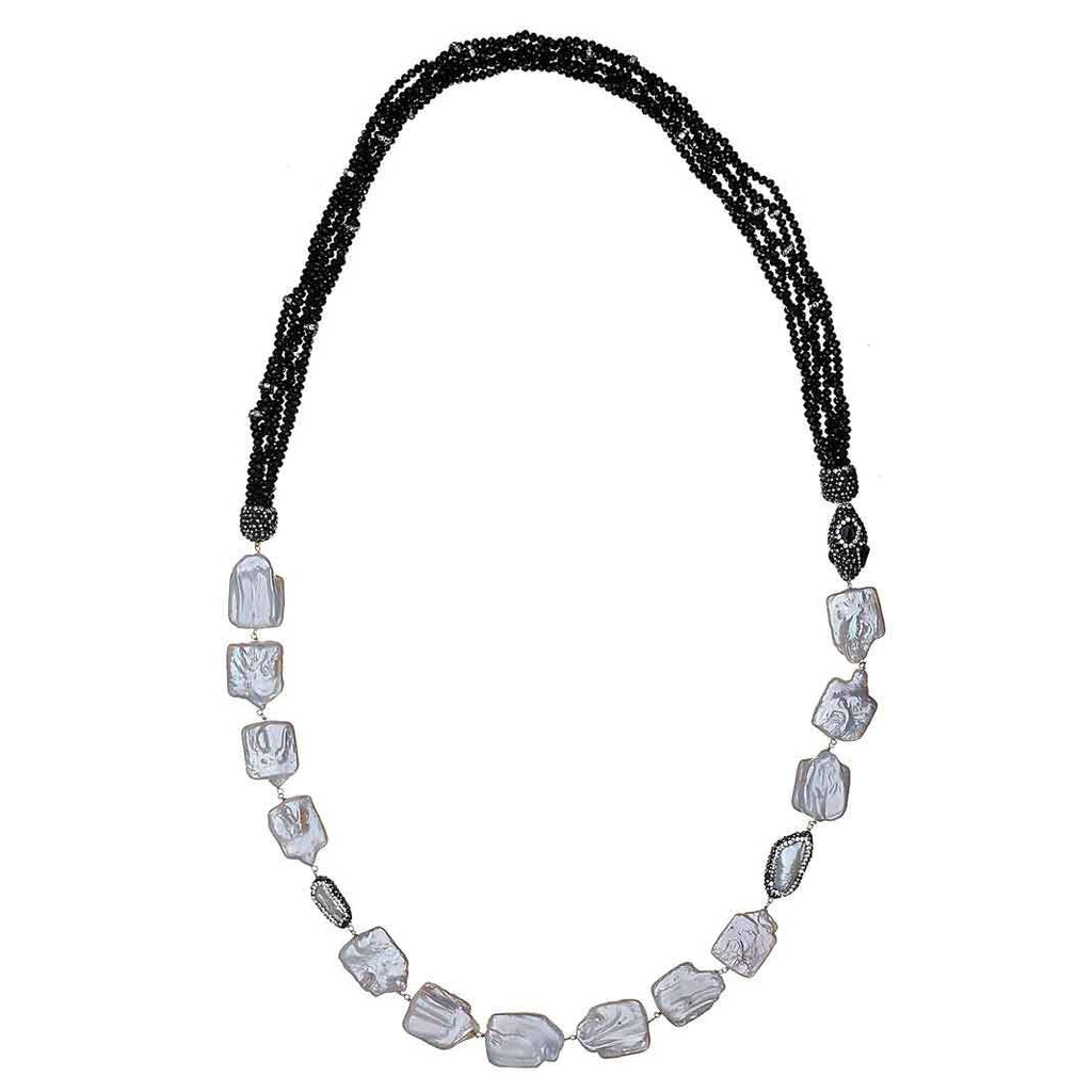 Gabourney Onyx Long Necklace