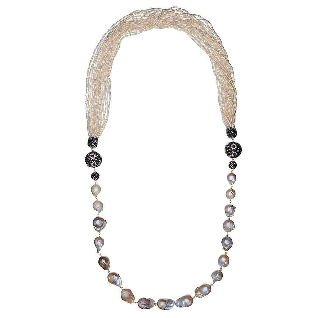 Tura Pearl Long Necklace