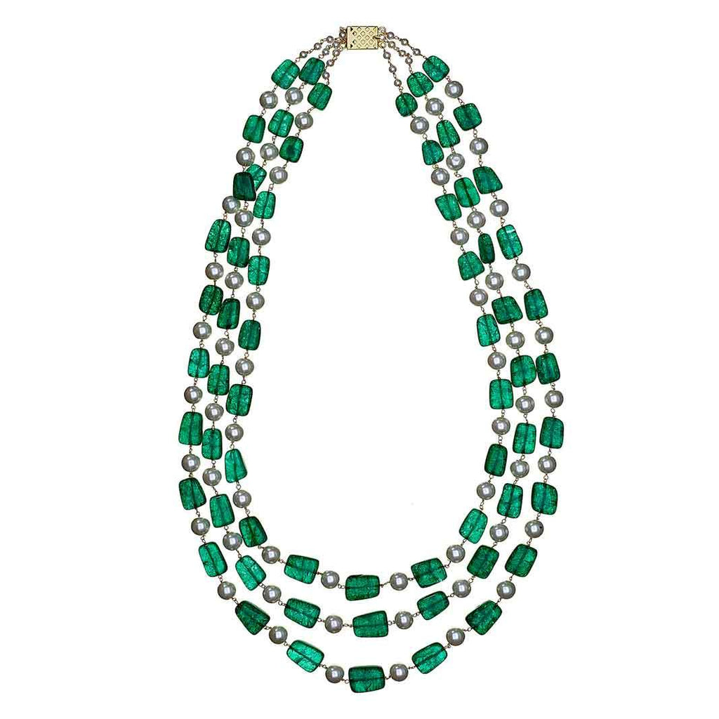 Jaz Emerald Long Necklace