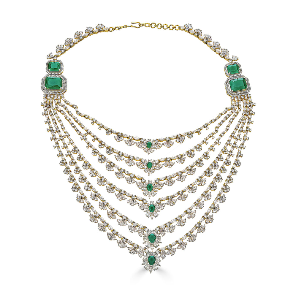Dee Emerald Statement Necklace