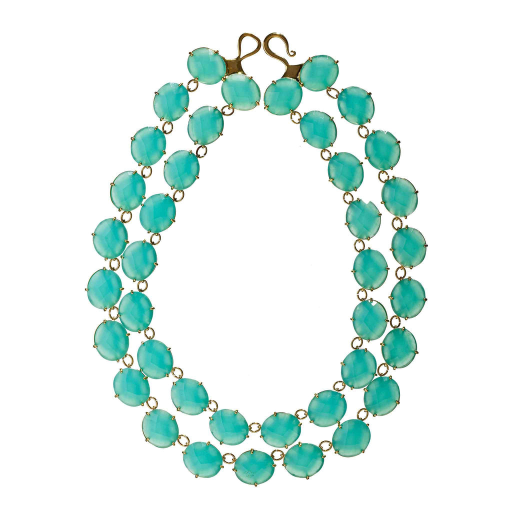 Stacey Aqua Chalcedony Necklace
