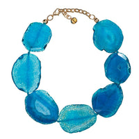 Journee Turquoise Agate Necklace
