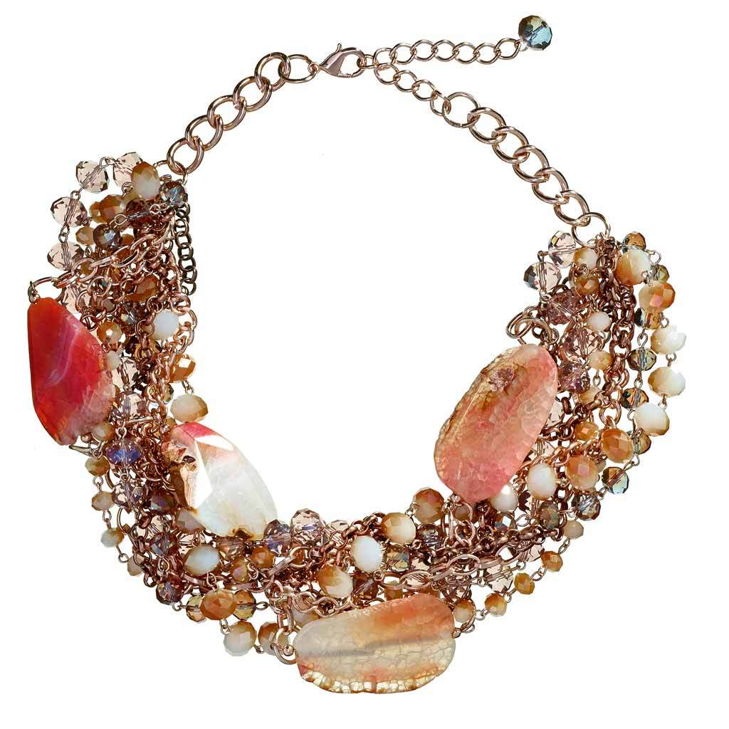 Amina Agate Beaded Necklace