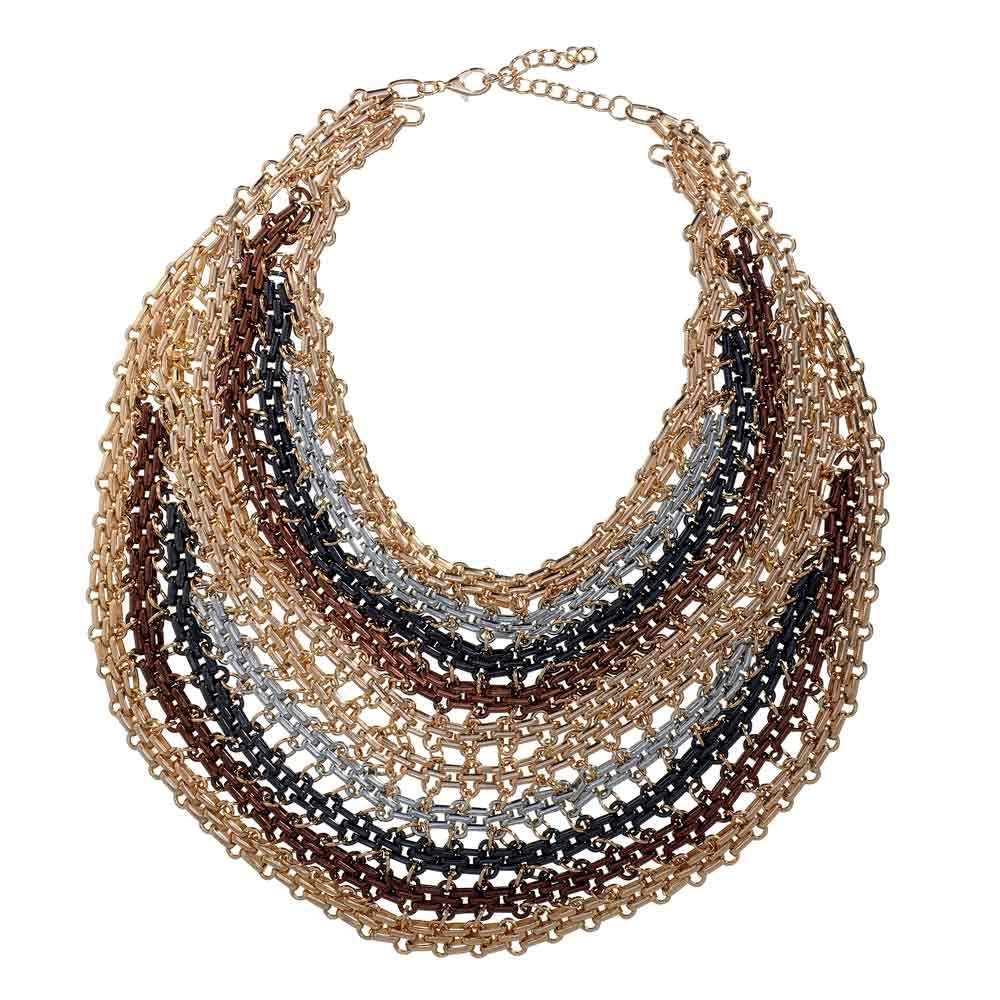Thea Multi Finish Chain Necklace