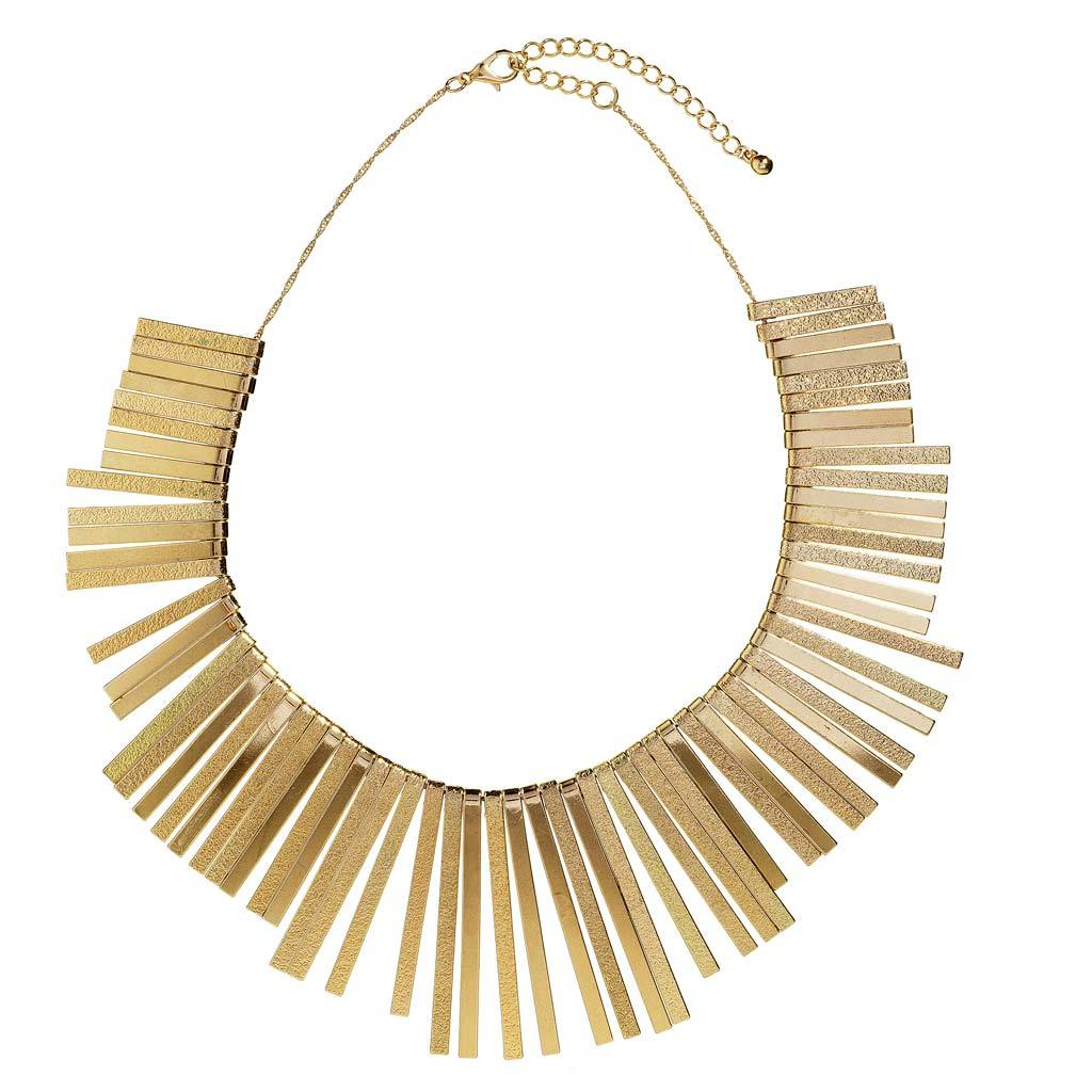 River Gold Statement Necklace