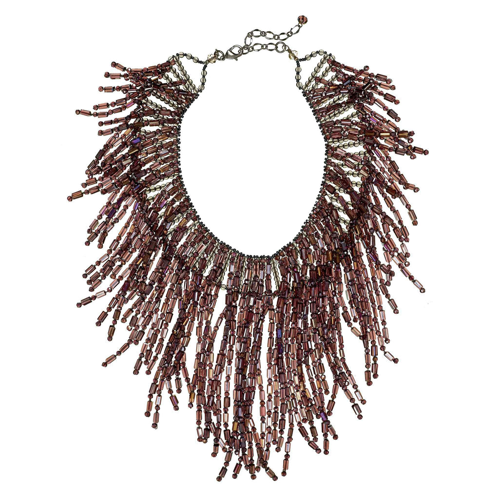 Belva Crystal Fringe Necklace