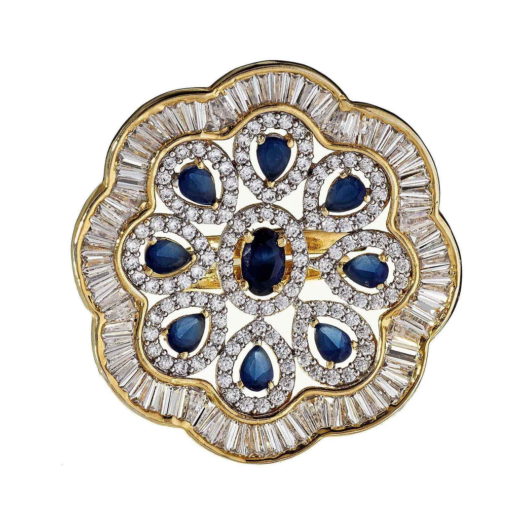 Yaya Sapphire Floral Ring