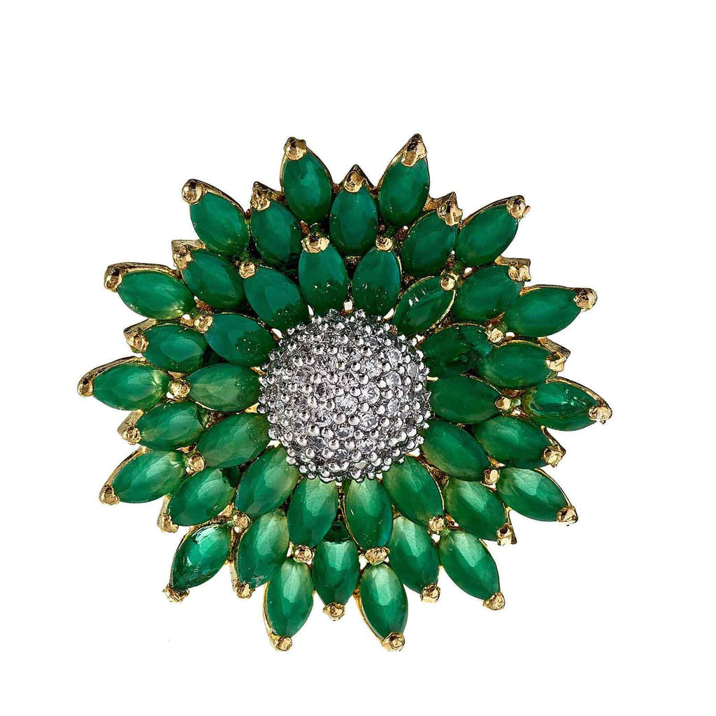 Jojo Emerald Sunflower Ring