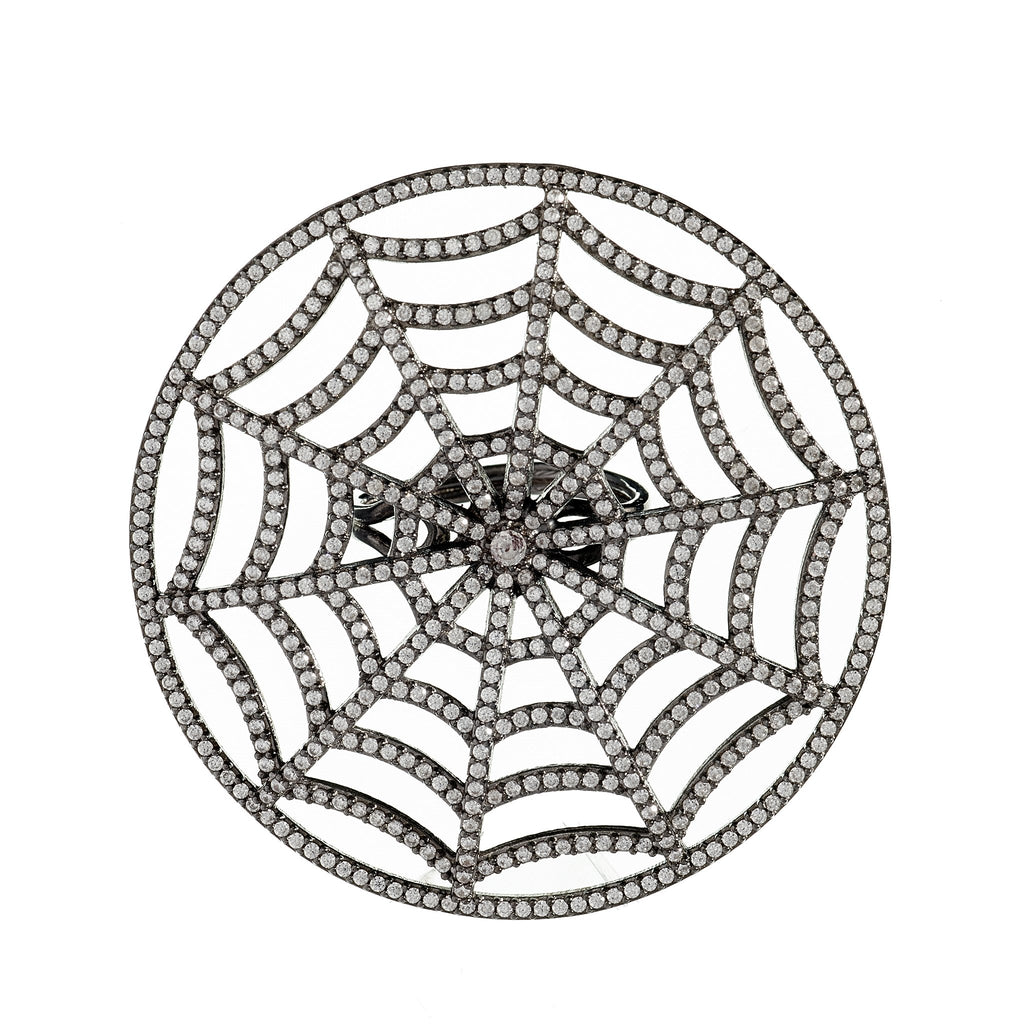 Shelby Crystal Web Ring