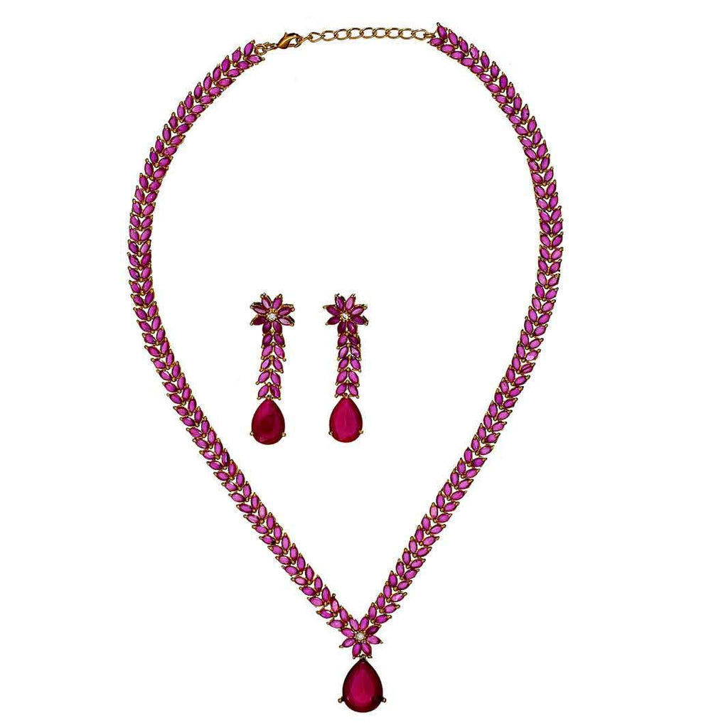 Ivana Ruby Necklace Set