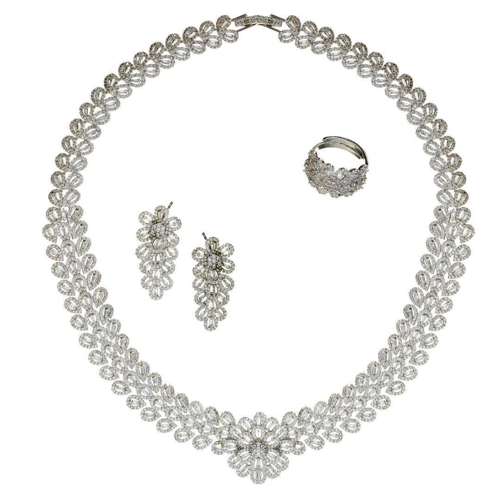 Larisa Crystal Necklace Set