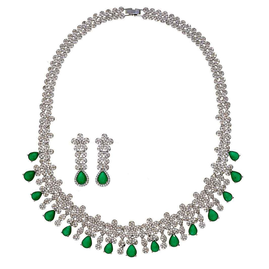 Shannyn Emerald Necklace Set