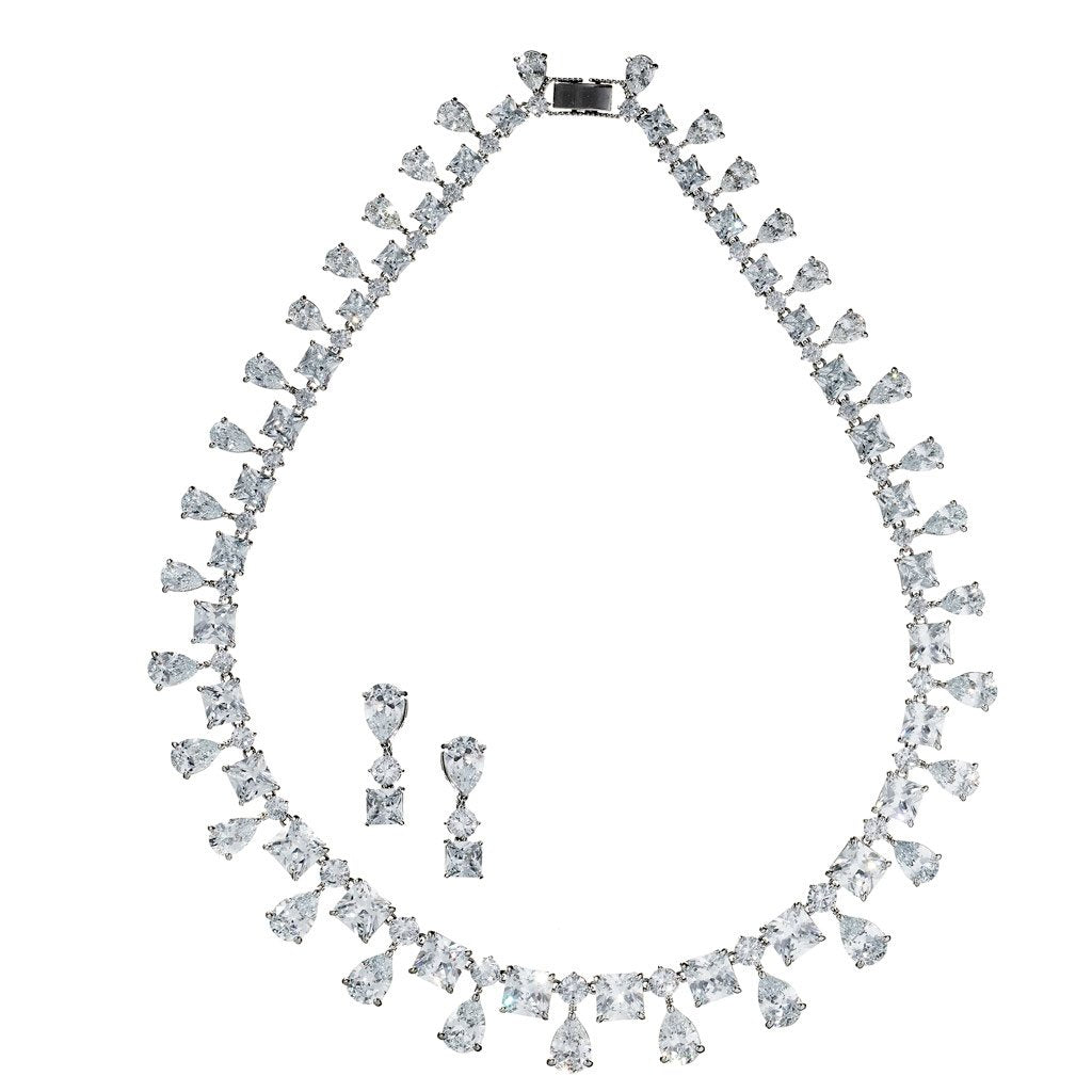 Elianna Crystal Necklace Set