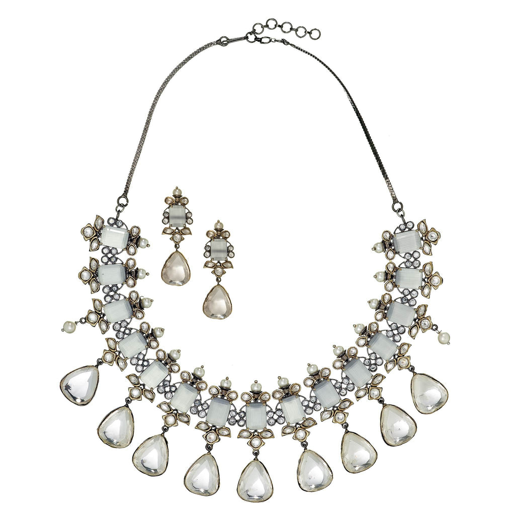 Alaina Crystal Necklace Set
