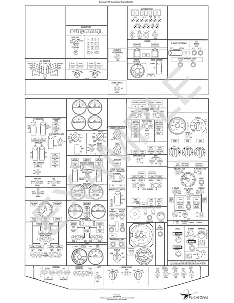 B737 Overhead Panel Lights Schematic