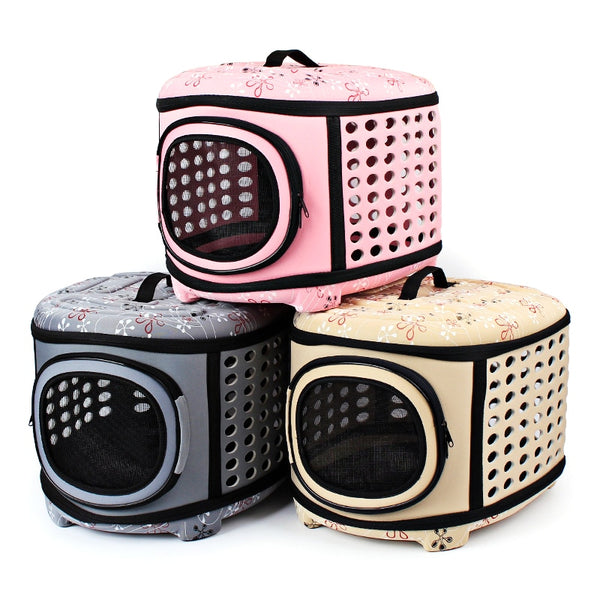 Hot sale portable folding pet Dog Box Go out to carry the pet travel bag Carriers For Cats ventilation aviation dog and cat bag