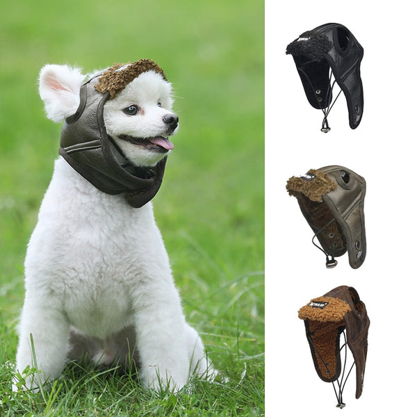 Pet Dog Cute Aviator Caps Pet Costume Cosplay Warm Windproof Pilot Hats for Small Medium Large Dogs Winter Dogs Accessories Hats