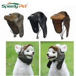 Cool Aviator Cap For Dog Pet Costume Windproof Pilot Hat With And Ear Hole Chin Strap For Small Medium Large Dogs Winter Dog Hat