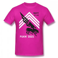 Aviator Pilot T Shirt VF 143 Pukin Dogs Sans Reproache T-Shirt 100 Cotton Streetwear Tee Shirt Cute Men Short-Sleeve Tshirt