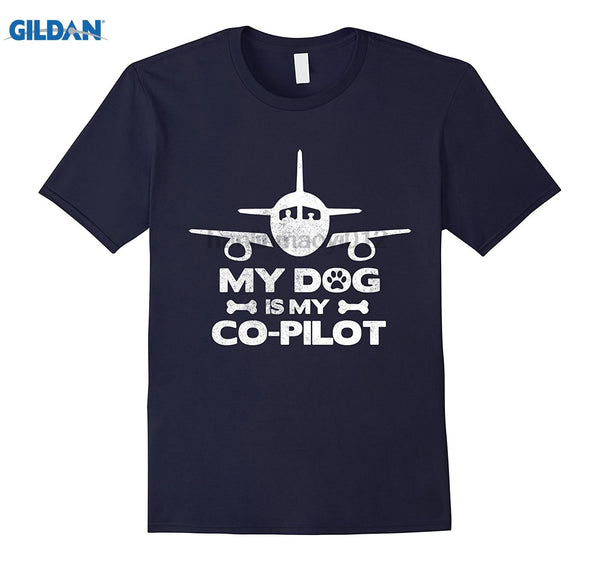 GILDAN My Dog Is My Co Pilot Aviation Aviator Flying Tshirt  Mother's Day Ms. T-shirt