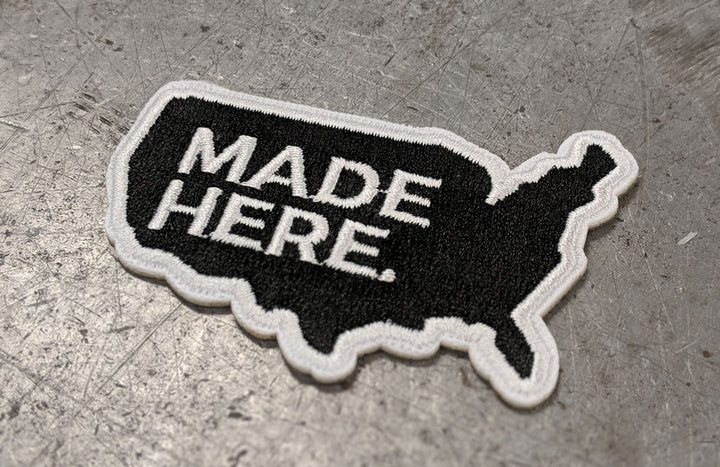 ALLIED 'Made Here' Embroidered Iron-on Patch
