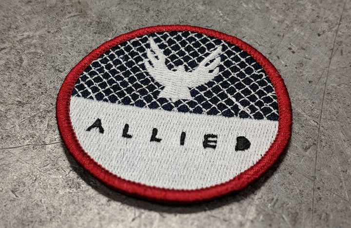 ALLIED Eagle Embroidered Iron-on Patch