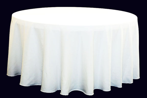 Tablecloth White Round 120""