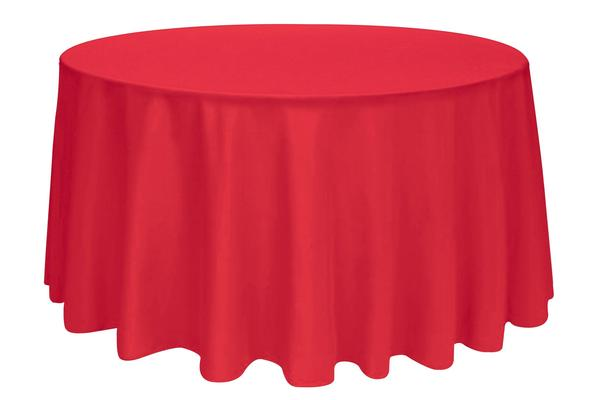 Tablecloth Red Round 120""