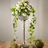 "30"" Crystal globe centre piece  10 available"