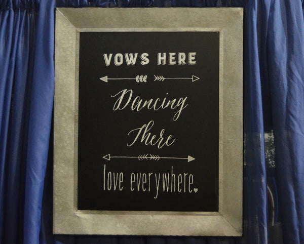 Vows Here Sign