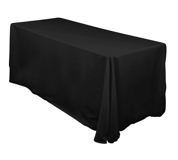 "Black  Linen for 6' Table 90""X 132"""