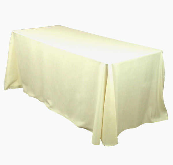 "Ivory  90"" x 132"" Linen for 6' Table"