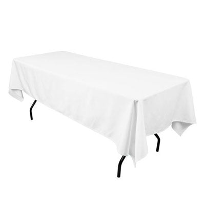 White Rectangular for 6'' Table