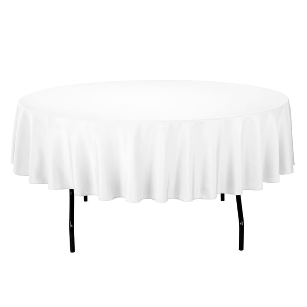 Tablecloth White Round 90""